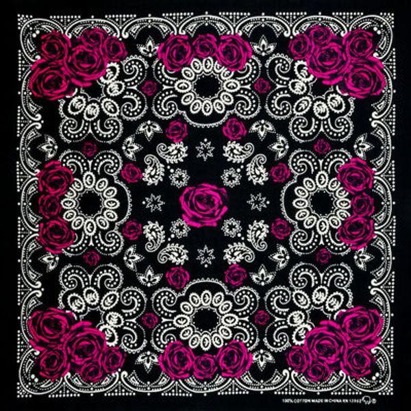 Sciarpa Piazza Cotton Rosa Rossa Paisley nero Hip Hop turbante Bandane Foulard Headwear / capelli collo Wrap banda Headties per le donne / Mens