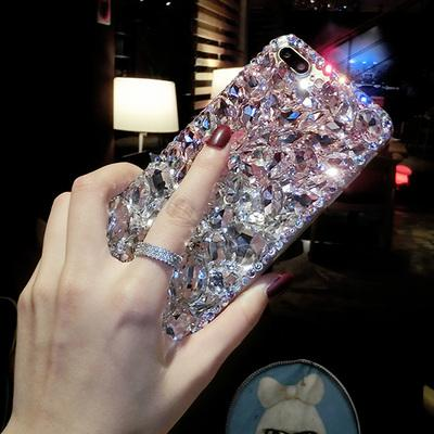 Luxury Fashion Bling Crystal Diamond Case Cover For Iphone X 8 7 6 6S Plus 5 5S 5C 4 4S TPU Soft Silicone Back Cover Girl Case