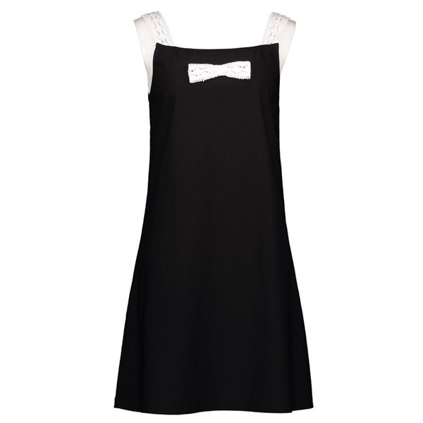 Strap Mini Dress Women Summer 2019 Chic School Street Hipster Goth A Line Sweet Bow Cute Young Girl Casual Black Short Dresses