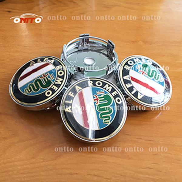 4pcs/lot Car wheel hub cap 60mm(2.36inch) logo car emblem badge cover for Mito 147 156 159 166 Giulietta Spider