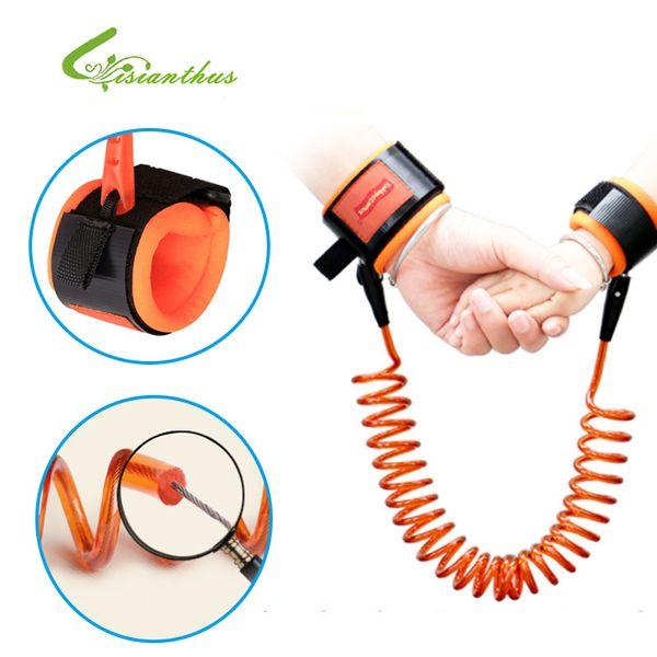 Crianças crianças Ajustável Fixo / Pode ser girado pulseira Trelas de Segurança Arnês de Caminhada de Segurança do Bebê Cinta Anti-perdida 2 Cores