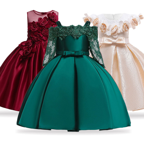 Compre 2019 Vestidos De Verano Para Niños Vestidos Elegantes Para Niñas Princesa Vestidos De Fiesta De Noche Vestido De Novia De Las Niñas Flor