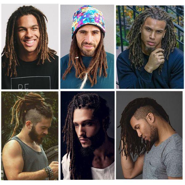 top popular Hot! 12 inch Fashion Hip-Hop Style Handmade Dreadlocks Black Reggae Hair Extensions Synthetic Braiding Hair From Maya Culture For Men 2020