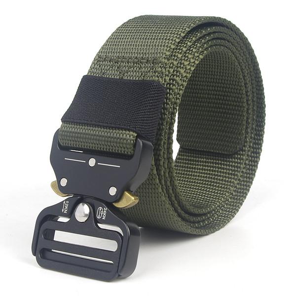 Army Tactical Waist Belt Man Jeans Male Female Waist Casual Canvas Webbing Nylon Duty Strap Belt