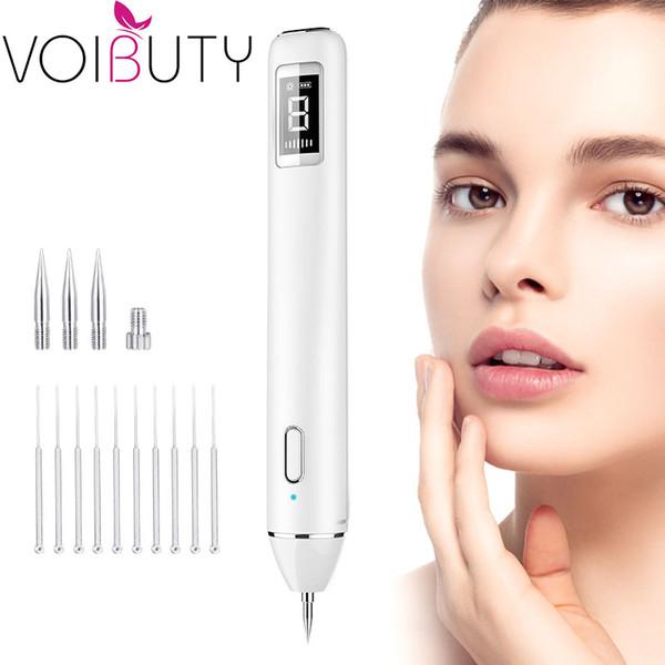 Electric Plasma Spot Mole Freckle Removal Pen with LED Spotlight Remove Tattoo Machine Laser Dark Spot Remover for Face