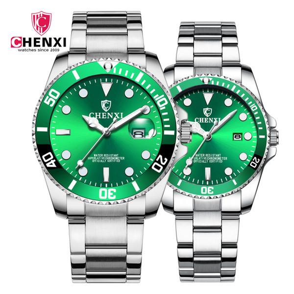 CHENXI Casais Relógios Das Mulheres Dos Homens de Quartzo Relógio Relógio de Pulso Homem Moda Casual Masculino Feminino Relógio com Calendário Dropshipping
