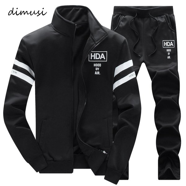 dimusi autumn winter mens sportwear suits male outwear tracksuit sweatshirts 2pc jacket+pant mens hoodies warm sweatshirts,ta271