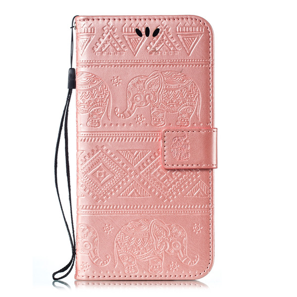 2019 high quality anti-drop anti-collision soft embossed elephant type multi-function PU leather phone case for Huawei Honor 20 20pro Y9PLUS