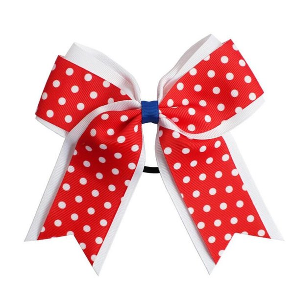 jojo bow children's hair clip hair ring Baby hair accessories 6inch large dot ribbon bow hairs accessories
