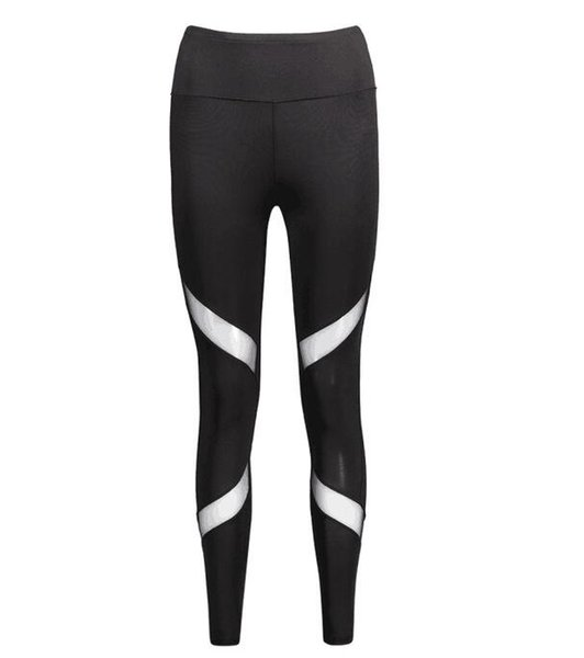 Sexy Women Leggings Gothic Insert Mesh Design Trousers Yoga pants Big Size Capris Sportswear New Fitness Leggings