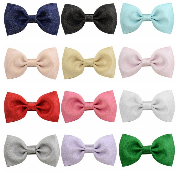 2.75 Inch Kids Bows hair clip boutique girls candy colors Bows princess hairpins handmade children Bowknot party barrettes F2690
