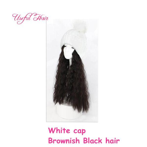 pelo negro grisáceo casquillo pardusco blanco