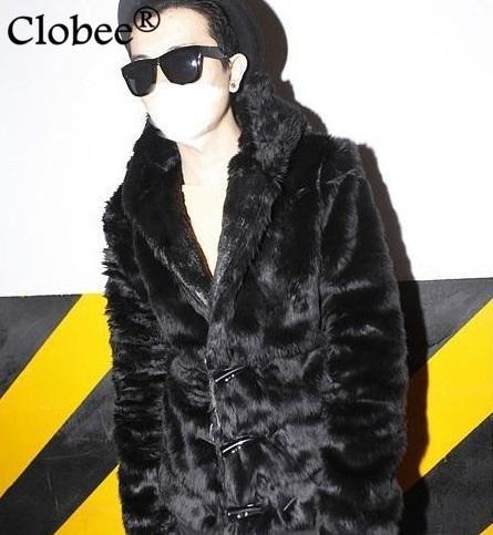 Дешевая ткань 2019 осень зима из искусственного меха с капюшоном теплая chaqueta cuero hombre кнопка рога черная кожаная куртка X659