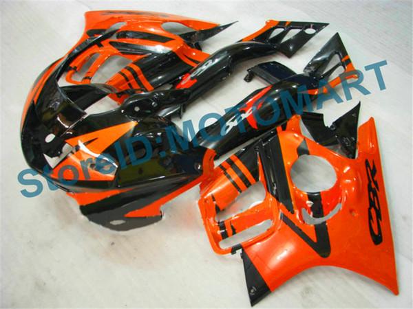 Cuerpo para HONDA CBR 600F3 CBR 600 F3 95 96 97 98 CBR600FS CBR600 F3 CBR600F3 naranja negro 1995 - 1998 Carenado HF2