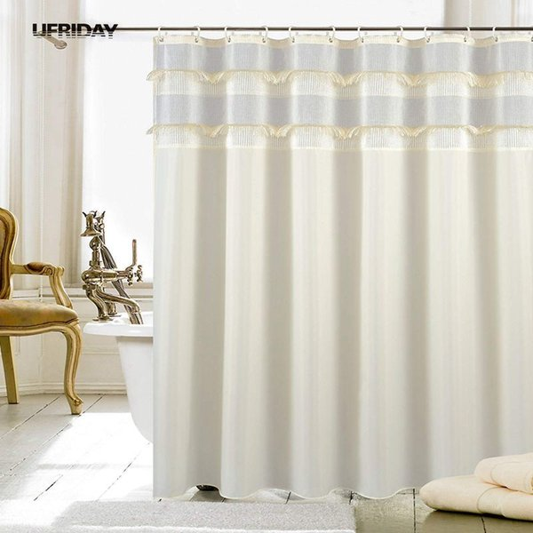 2019 UFRIDAY New Type Joint Shower Curtain With Tassel Waterproof Shower  Curtains Wedding Decoration Rideau De Douche Douchegordijn C18112201 From  ...