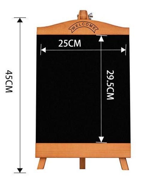 top popular Countertop Blackboard Advertising Poster Display Rack Menu Stand Restaurant Message Board Desktop Table Food Name Display Stand 2021