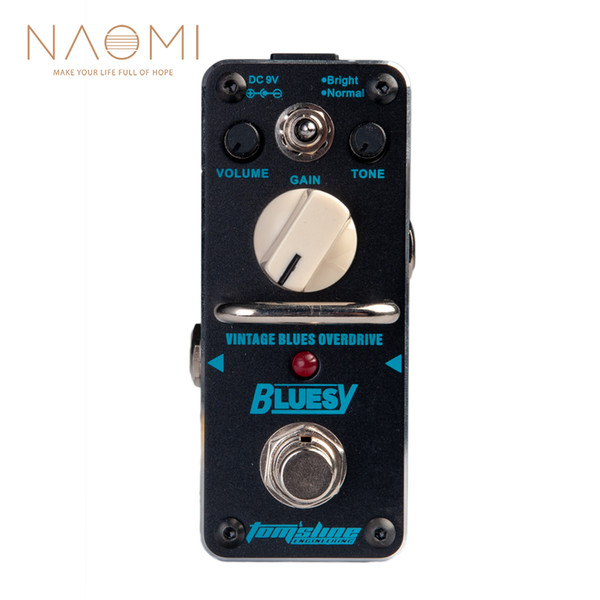 NAOMI Aroma ABY-3 Guitar Effect Pedal Bluesy Vintage Blues Overdrive Electric Guitar Effect PedalTrue Bypass