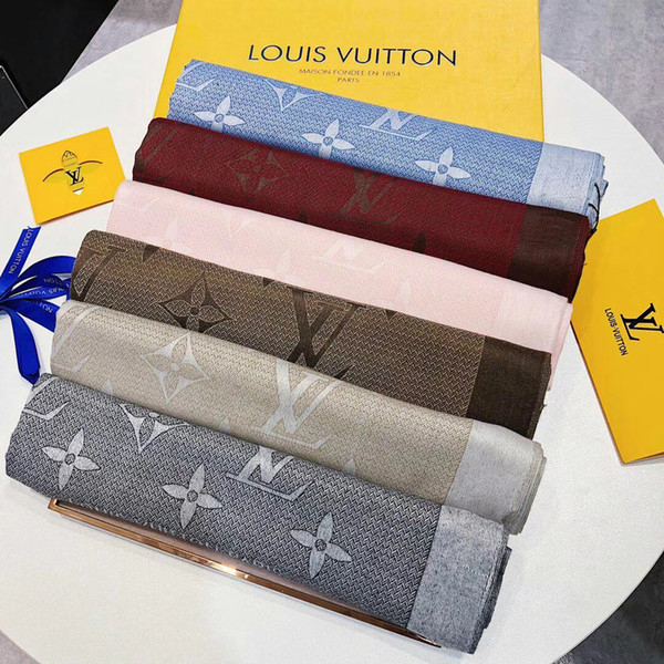 2018 Classic Scarf Design Letter style Warm long Scarves cotton Brand Design Large long Scarves Autumn Soft Shawls Classic Scarf