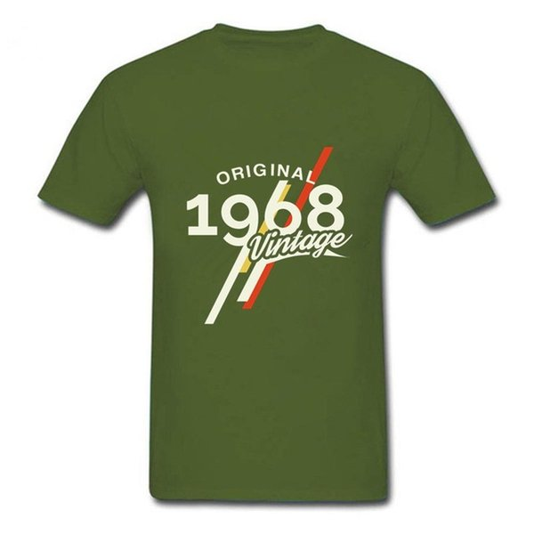 5271f5b37 Mens luxury brand designer t shirts Vintage 1968 Classic 50 years birthday  T shirt 50th birthday