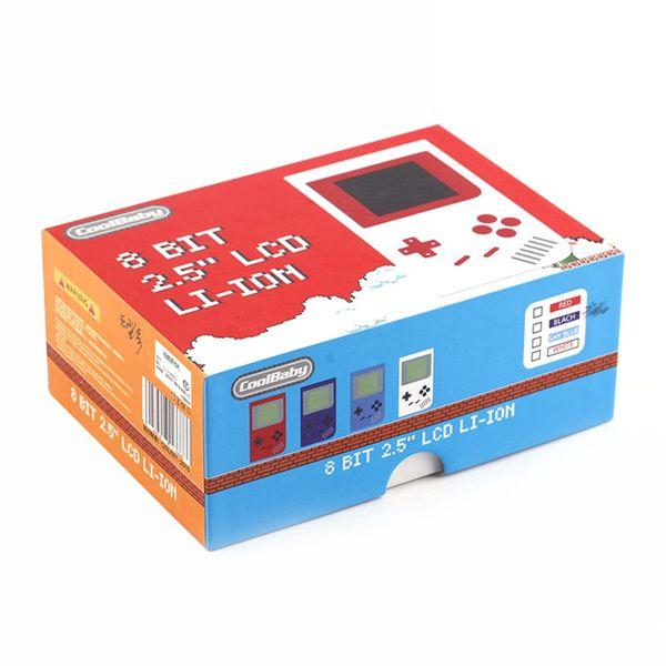 2019 CoolBaby Mini Consolas de Jogos Portáteis RS-6 Portátil Retro Mini Game Console Cor LCD de 2.0 Polegadas Tela Player Para FC Jogo A-ZY