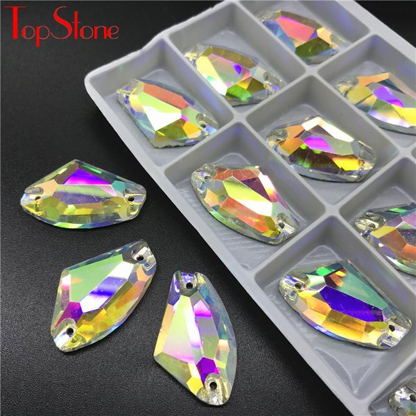 TopStone AB Galactic AX Sew En verre strass cristal strass Flatback Sew Strass Pour Robe de mariée Vêtements