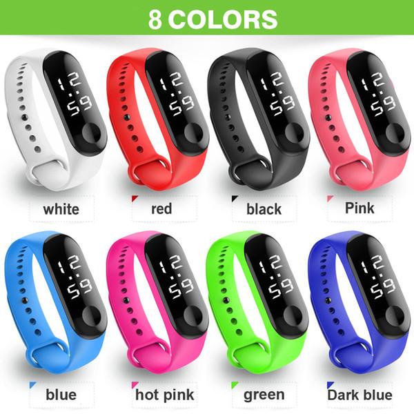 2019 Fashion Digital LED Sport Watch Unisex Silicone Band Wrist Watches Men Women zegarek montre relogio reloj inteligente mujer