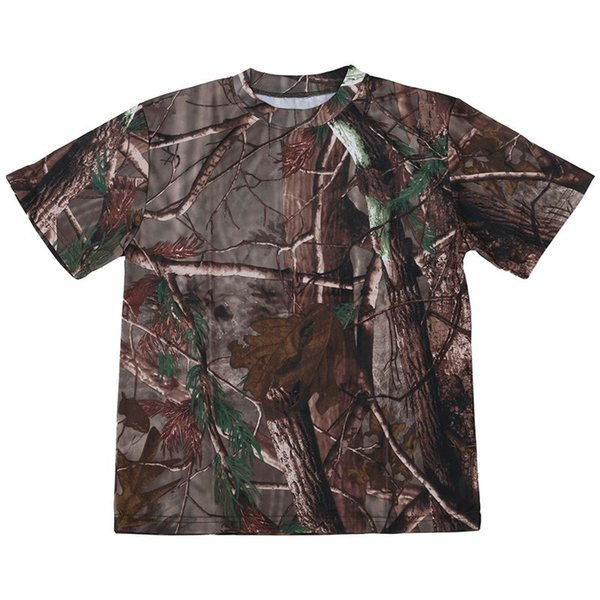 New Outdoor Hunting camouflage T-shirt Homme respirant Combat T-shirt sec Sport Camo Camp camouflage Tees-Tree S