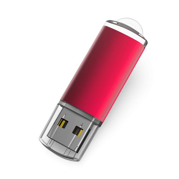 5PCS 1PCS 1GB 2GB 4G 8GB 16GB 32GB 64GB 128GB USB 2.0 Clé USB Clé Mémoire Clé USB avec Indicateur LED, Rouge