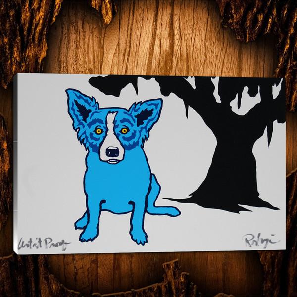 Azul para ti, 1 pieza Decoración para el hogar Pintura de arte moderno impresa en HD (sin marco / con marco) 24x36.