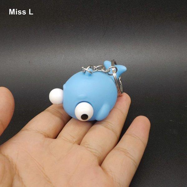 Lustige Anti-Stress-Entlüftungs-Spielzeugwal-Neuheit, die angehobene Augen extrudiert