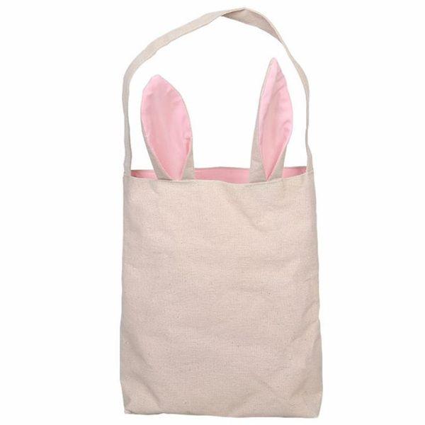Cesto di Pasqua della tela con orecchie da coniglio 5 colori orecchie di coniglio Cesto carino regalo di Pasqua borsa orecchie di coniglio mettere uova di Pasqua di alta qualità