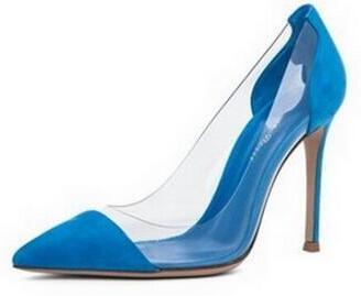 blu pelle scamosciata