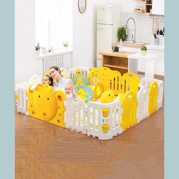 Mise à niveau du matériau de protection de l'environnement en plastique de la barrière de jeu pour enfants, clôture pour bébé, pour augmenter l'adsorption