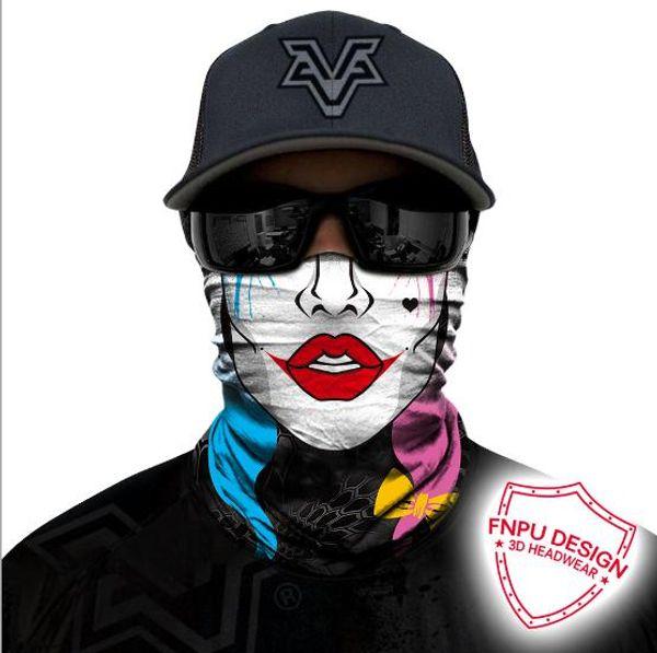 2019 3D Magic Headband Death Knight Pirate Scarf Skull Skeleton Ghost Ski Cycling Headwear Headband Motorcycle Neck Bandana 3D Face Masks