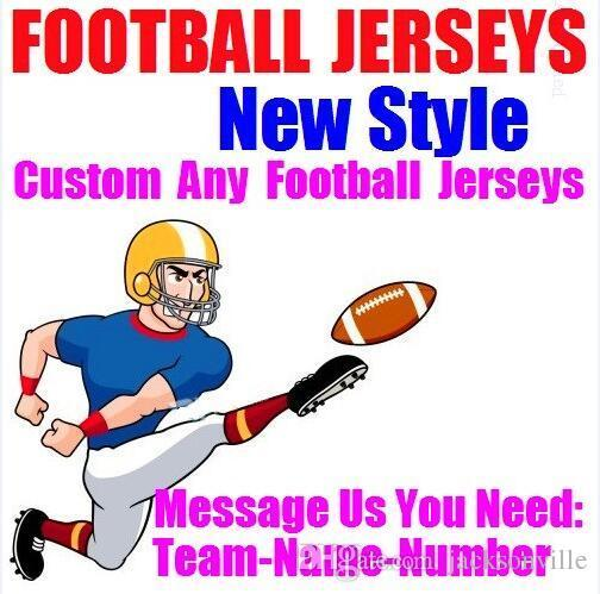 Personalized american football jerseys Custom New Orleans team college authentic cheap baseball basketball hockey jersey 4xl 6xl 8xl blue