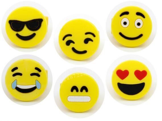 Emoji усмешки палец кольцо Желтые резиновые Желе Кольца Мальчики Девочки Симпатичный мини мультфильм кольца Дети ювелирные изделия Finger аксессуары Игрушки