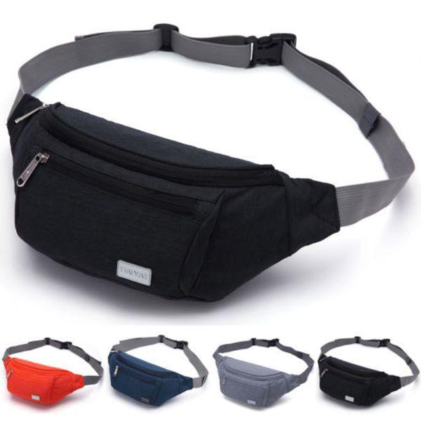 Men Crossbody Shoulder Bags Outdoor Hiking Nylon Waterproof Sling Chest Pack Storage Bags