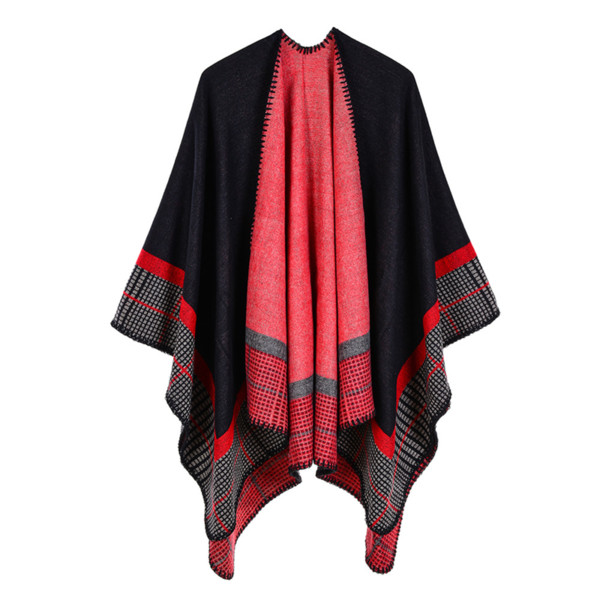 2018 New Fashion Ladies Winter Scarf Blanket Quality Women Poncho Warm Wool Ponchos Capes Long Knit Thick Women Echarpe Shawls