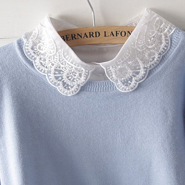 women clothing blouses for women shirt decorative tie false decorative ladies new fashion handmade lace fake collar match detachable