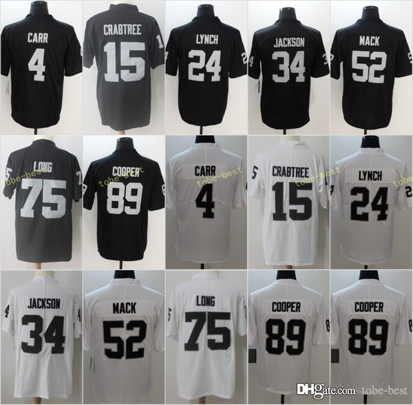 d4aaad07c 2018 New Mens Oakland 82 Jordy Nelson 4 Derek Carr 24 Marshawn Lynch Raiders  Jerseys 52