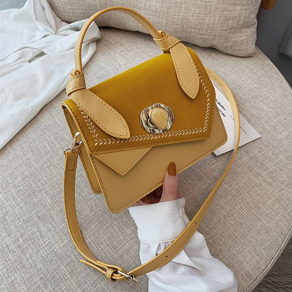 High quality new style fashion cross body bag with simple texture single shoulder hand embroidery thread lock small square bag