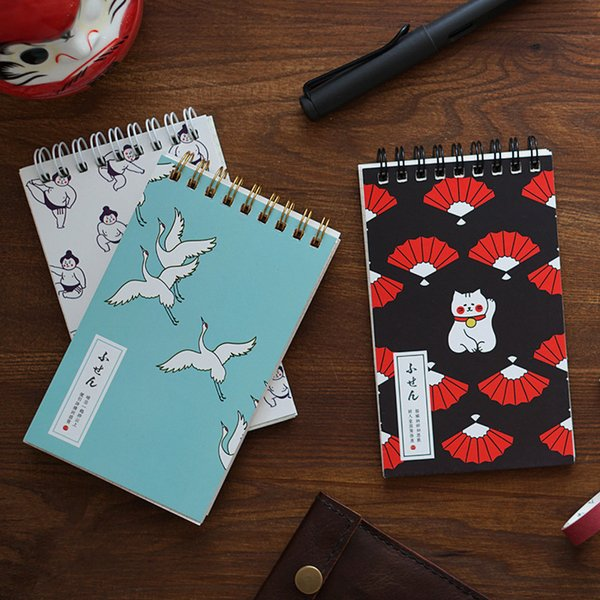 """japanese Cat Pocket"" Cute Mini Diary Notebook Hand Memo Pad Study Journal Coil Spiral Stationery Gift"
