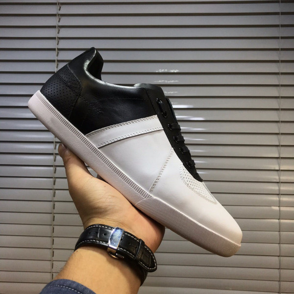 Men's Fashion Brand Designer genuine leather sneakers Classic Walking Sports Trainers casual shoes Zapatos Hombre size 38-44