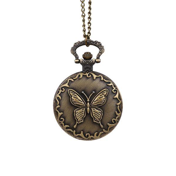 Montre de poche papillon montre de poche papillon vintage tempérament doux