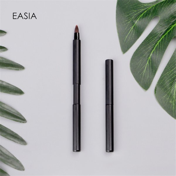 Single Elastic Lip Brush for Travel Metal Handle Synthetic Hair Lip Stick Gloss Makeup Brush Tool Pencil