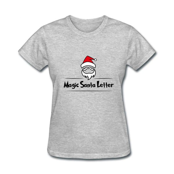 Novelty Pink Color Magic Santa Letter Print Hip Hop Women T shirt Casual Cotton Hipster tshirts For Girl Funny Top Tee Drop Ship