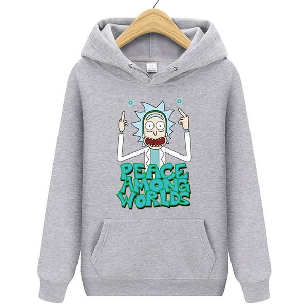Nuevo Rick Morty Anime Men Designer Hoodie Male Slim Casual Hoody Rick And Morty Imprimir Sudaderas con capucha de los hombres S-XXL