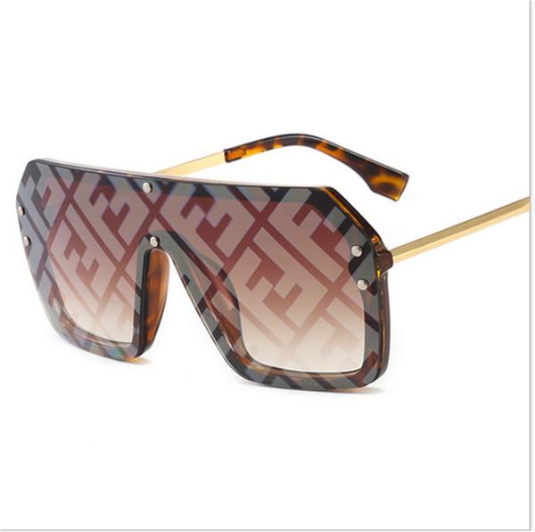FF Kadınlar Tasarımcı Güneş Gözlüğü 2019 Yaz Moda Mektup Güneş Gözlükleri Marka Büyük Çerçeve Güneş Gözlüğü Deniz Plaj Kum geçirmez Sunglass B6271
