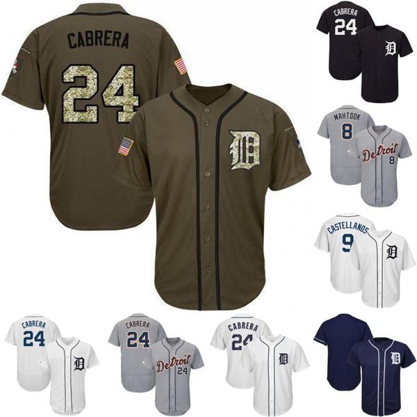 Detroit Jersey 24 Miguel Cabrera 9 Nick Castellanos 28 Niko Goodrum 17 Grayson Greiner 55 John Hicks Ronny Rodriguez Tigers Baseball Jerseys