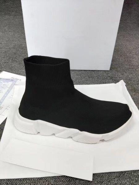 Роскошный черный белый красный скорость тренер обуви человек повседневная женщина кроссовки стрейч-вязать дизайнер обуви падение доставка унисекс bll18032507